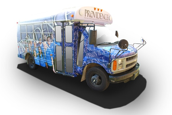 Find out how we turned this dull and tired bus into something students felt proud to ride to events by creating cool bus graphics.