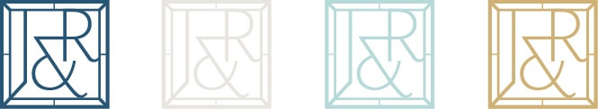 Janet and Ray Case monogram logo design
