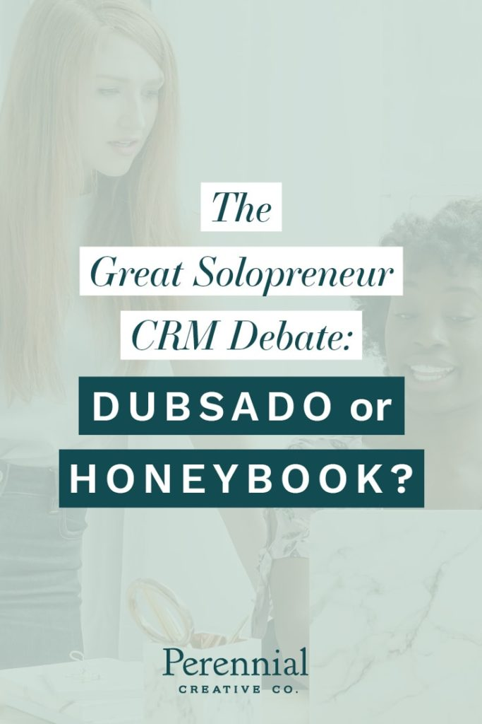 two women discussing dubsado and honeybook