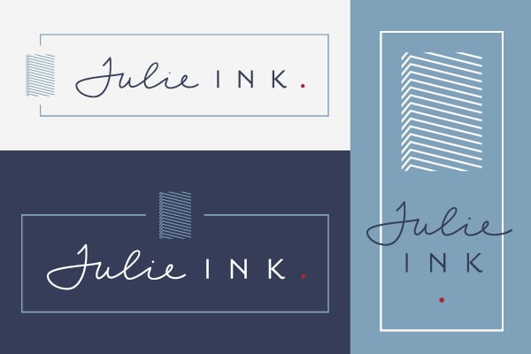 Julie Ink Logo Design 8