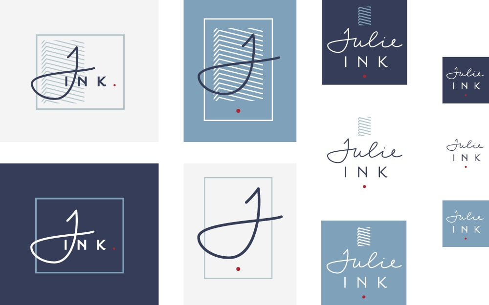 Julie Ink Social Media Branding Design Logos