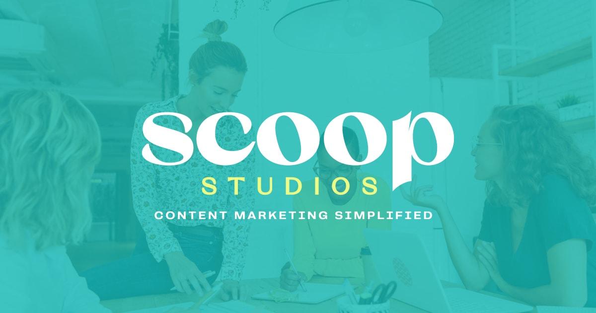 Scoop Studios Branding and Website Design FBTW